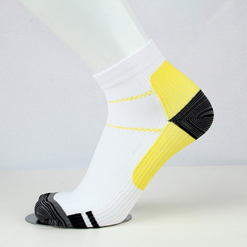 Yellow Athlete-Plantar Fasciitis Support Ankle Socks