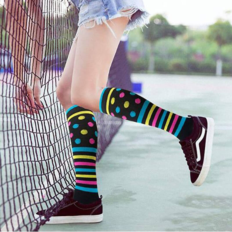 7-Pairs Athletic Knee-Length Compression Socks-4