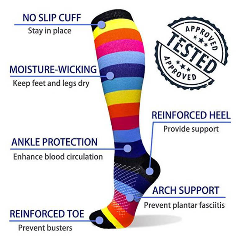 6-Pairs Fashionable Compression Socks for Man and Woman | ACTINPUT
