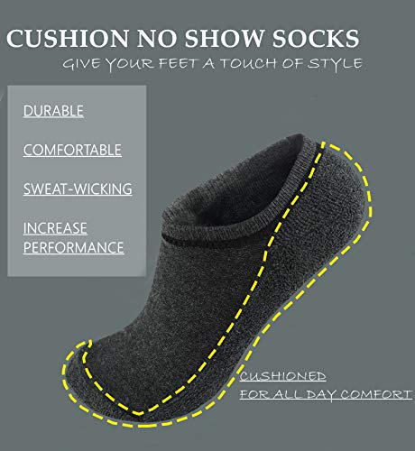 Women's No Show Cushion Socks,Low Cut Invisible Anti-Slid Casual Cotton Socks | Actinput