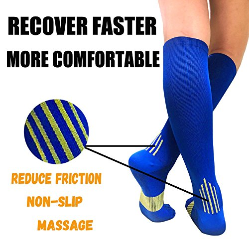 5-Pairs Color Mix Performance Compression Socks -5