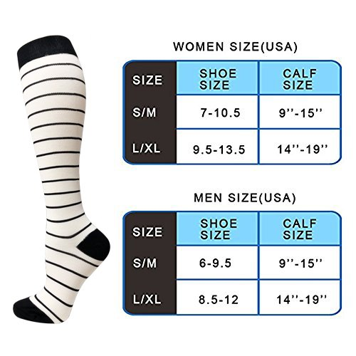 3-Pairs Heart Print Compression Socks for Men & Women(20-30 mmHG)| ACTINPUT