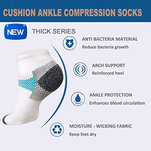 Plantar Fasciitis Support Compression Socks Women Men - Best Running Ankle Athletic Socks | ACTINPUT