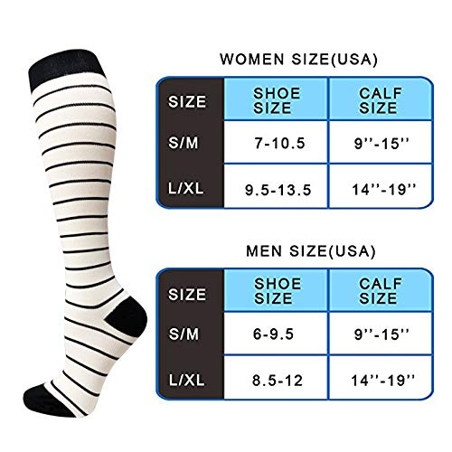 8 Pairs Compression Socks Women & Men (20-25mmHG)| Actinput