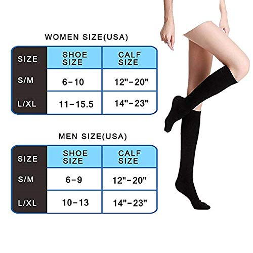 8-Pairs Knee-Length Nude Compression Socks -6
