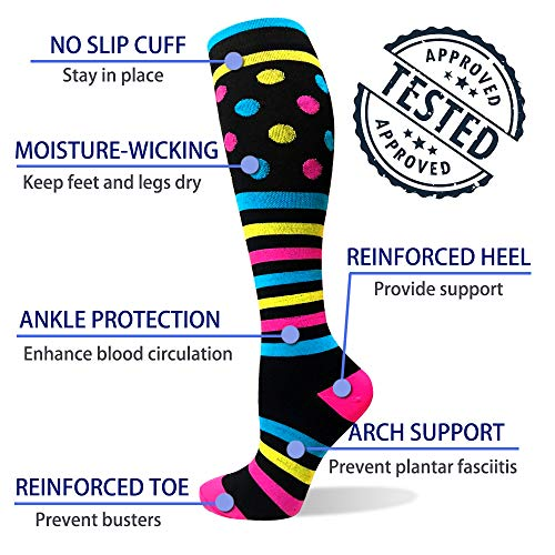 3-Pairs  Comfortable Compression Socks For Men & Women(20-30 mmHG) |Actinput