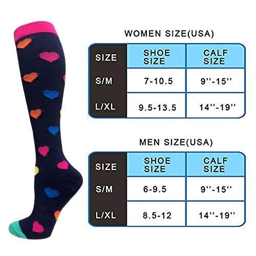 7-Pairs Compression Socks For Women Men 20-25mmHg | Actinput