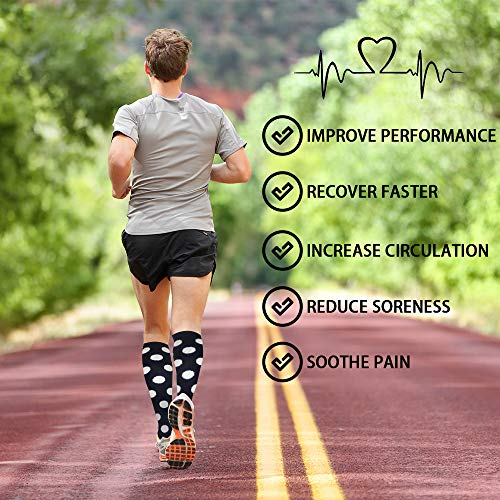 3-Pairs Cool Compression Socks For Men & Women(20-30 mmHG)  | Actinput