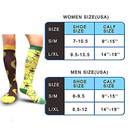 3-Pairs Colored Cute Fashion Compression Socks(20-25 mmHG) | Actinput