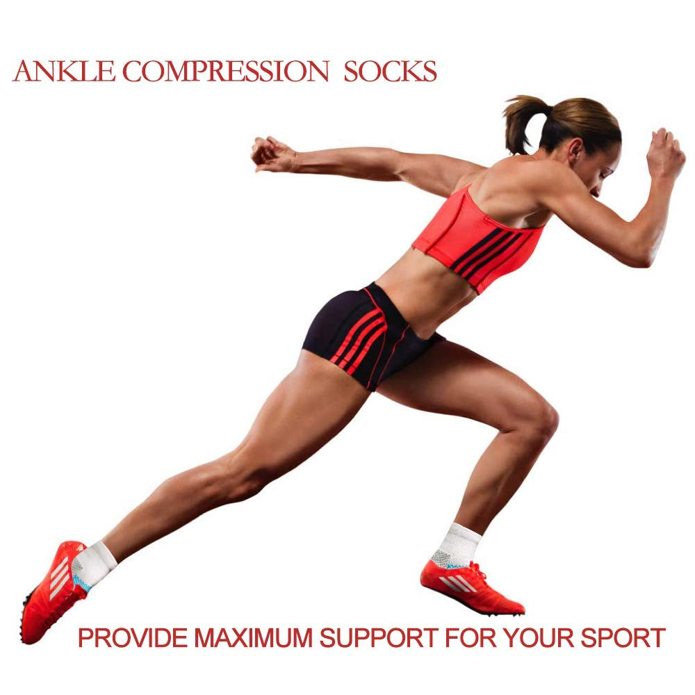 6-Pairs Low Cut Arch Support Athletic Cushion Socks For Women & Men | Actinput
