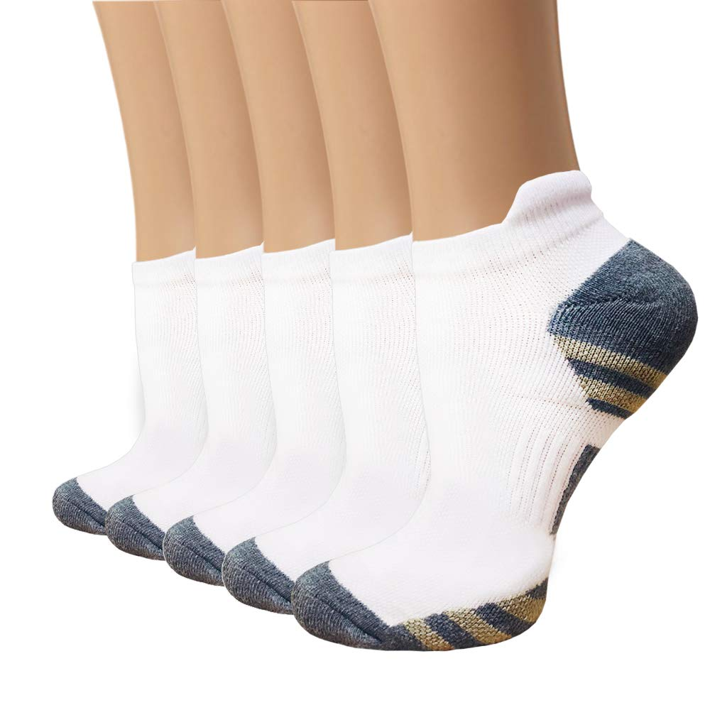 5-Pairs Copper Compression Running Socks for Men & Women | Actinput