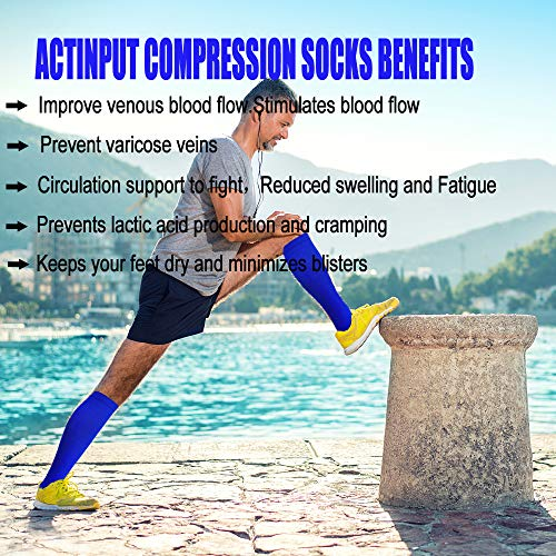 5-Pairs Color Mix Recovery Compression Socks (15-20 mmHG)| Actinput
