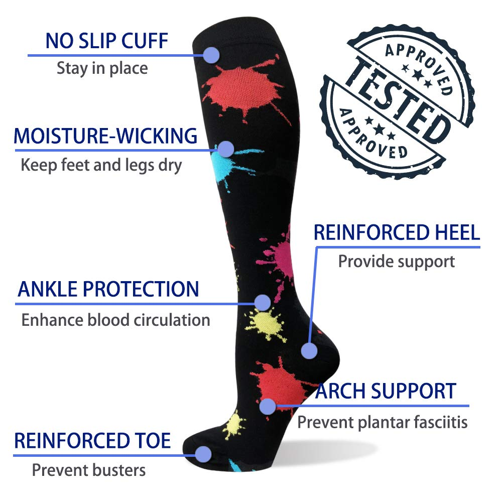 3-Pairs Compression Socks For Men & Women(20-30 mmHG)| Actinput