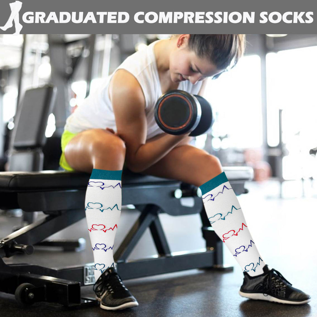 6-Pairs Cool Compression Socks for Man and Woman(20-30 mmHG) | ACTINPUT