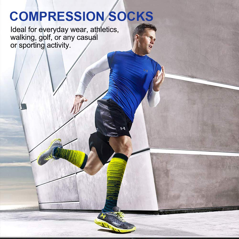 6-Pairs Gradient Change Compression Socks 20-30 mmHg for Man and Woman | ACTINPUT