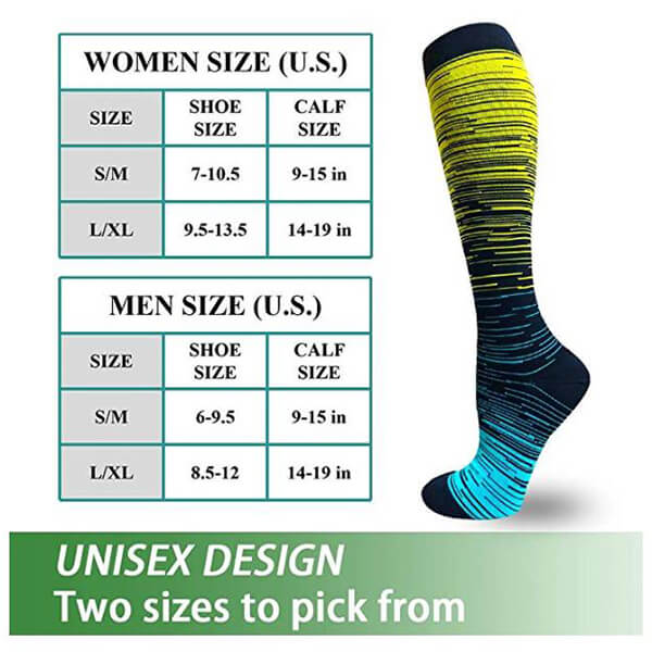 6-Pairs Fashionable Compression Socks  20-30 mmHG for Man and Woman | ACTINPUT