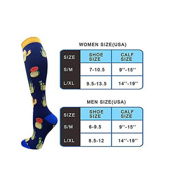 3-Pairs Cute Animals Compression Socks 20-25 mmHG for Woman & Man -6