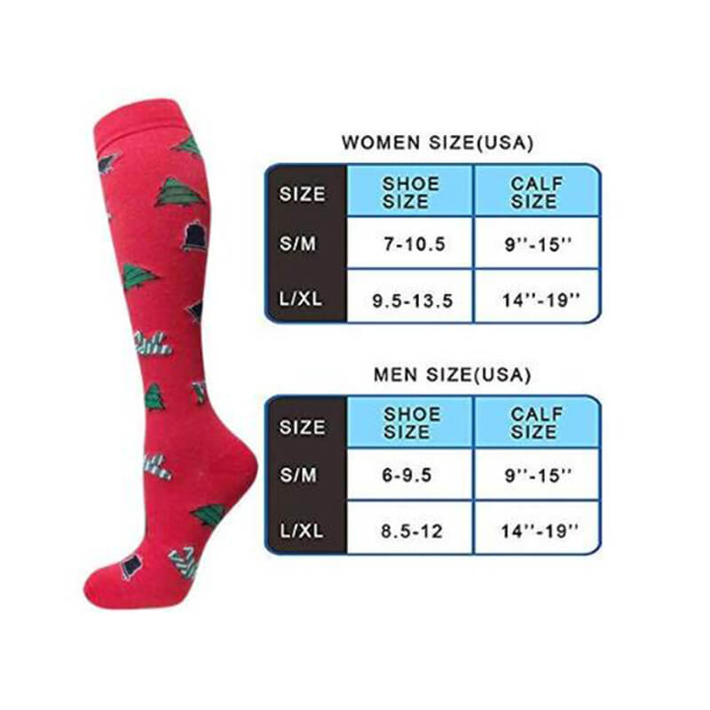 3-Pairs Christmas Fashion Compresssion Socks for Man and Woman -6