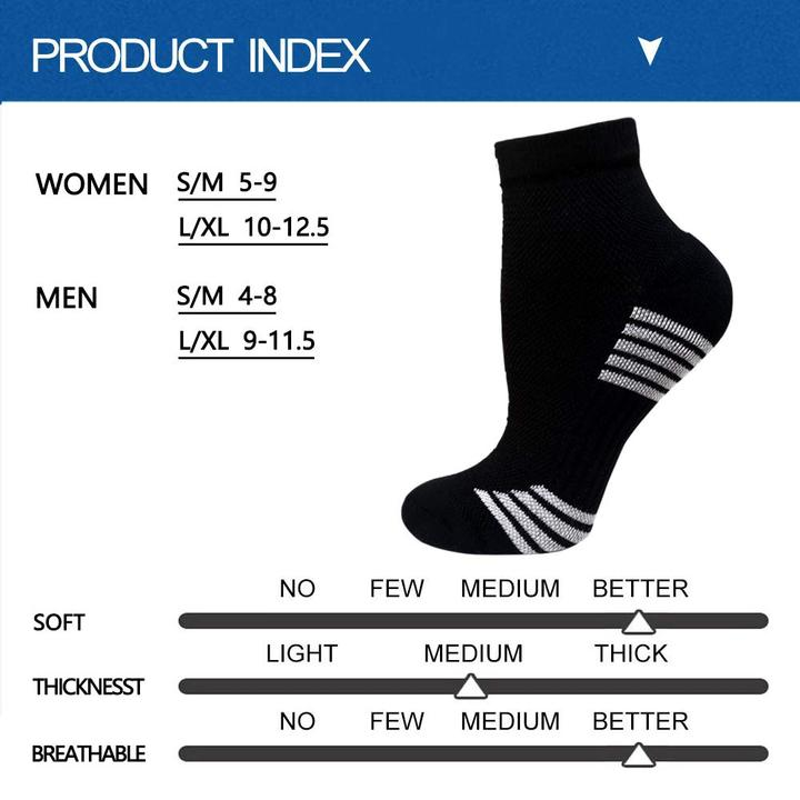 5-Pairs Color Mix Compression Ankle Socks -
