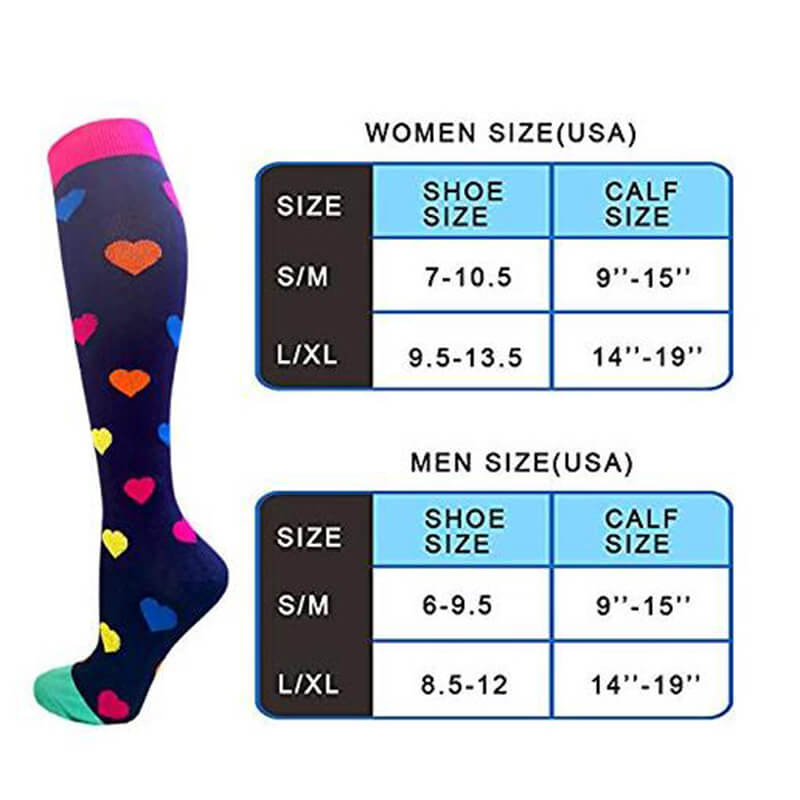 2-Pairs Fashion Cute Compression Socks 20-25 mmHg for Man and Woman | ACTINPUT
