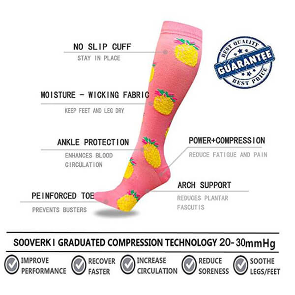 6-Pairs Pattern Mix Compression Socks for Man and Woman | ACTINPUT