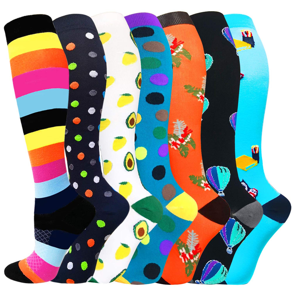 7-Pairs Fashionable Compression Socks for Man and Woman | ACTINPUT