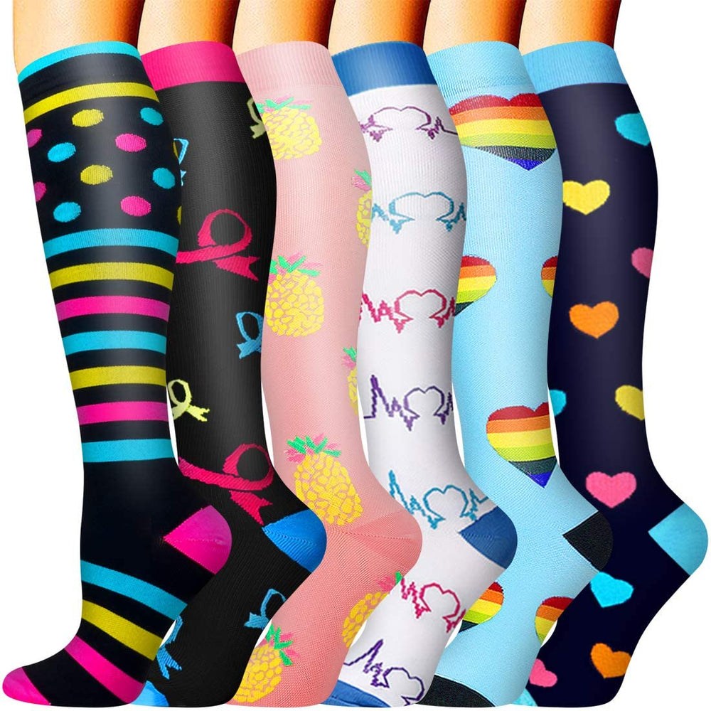 8-Pairs Gradient Compression Socks for Man and Woman (20-30 mmHG)| ACTINPUT