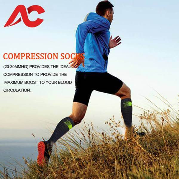 3-Pairs Sports Compression Socks for Man and Woman  20-30mmHG  | ACTINPUT