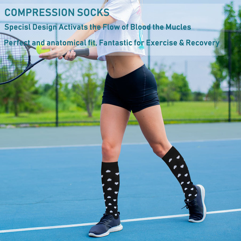6-Pairs Cool Compression Socks Women & Men (20-30 mmHG) | Actinput