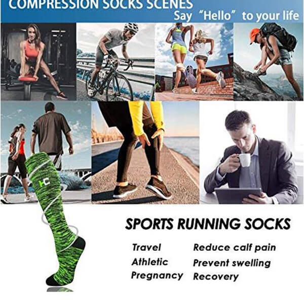 6-Pairs Color Mix Compression Socks for Man and Woman | ACTINPUT