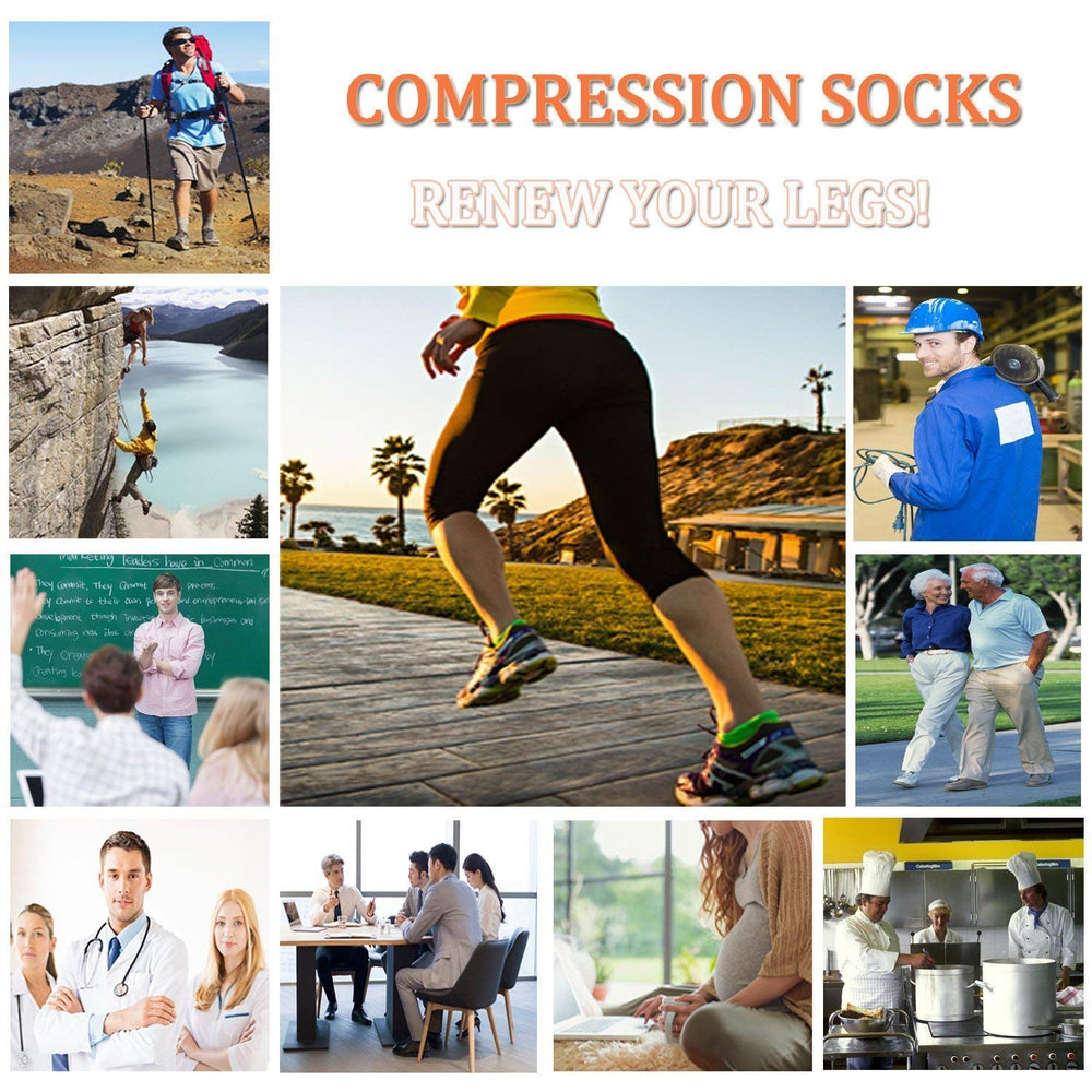 5-Pairs Low Cut Compression Socks Plantar Fasciitis for Women Men | Actinput