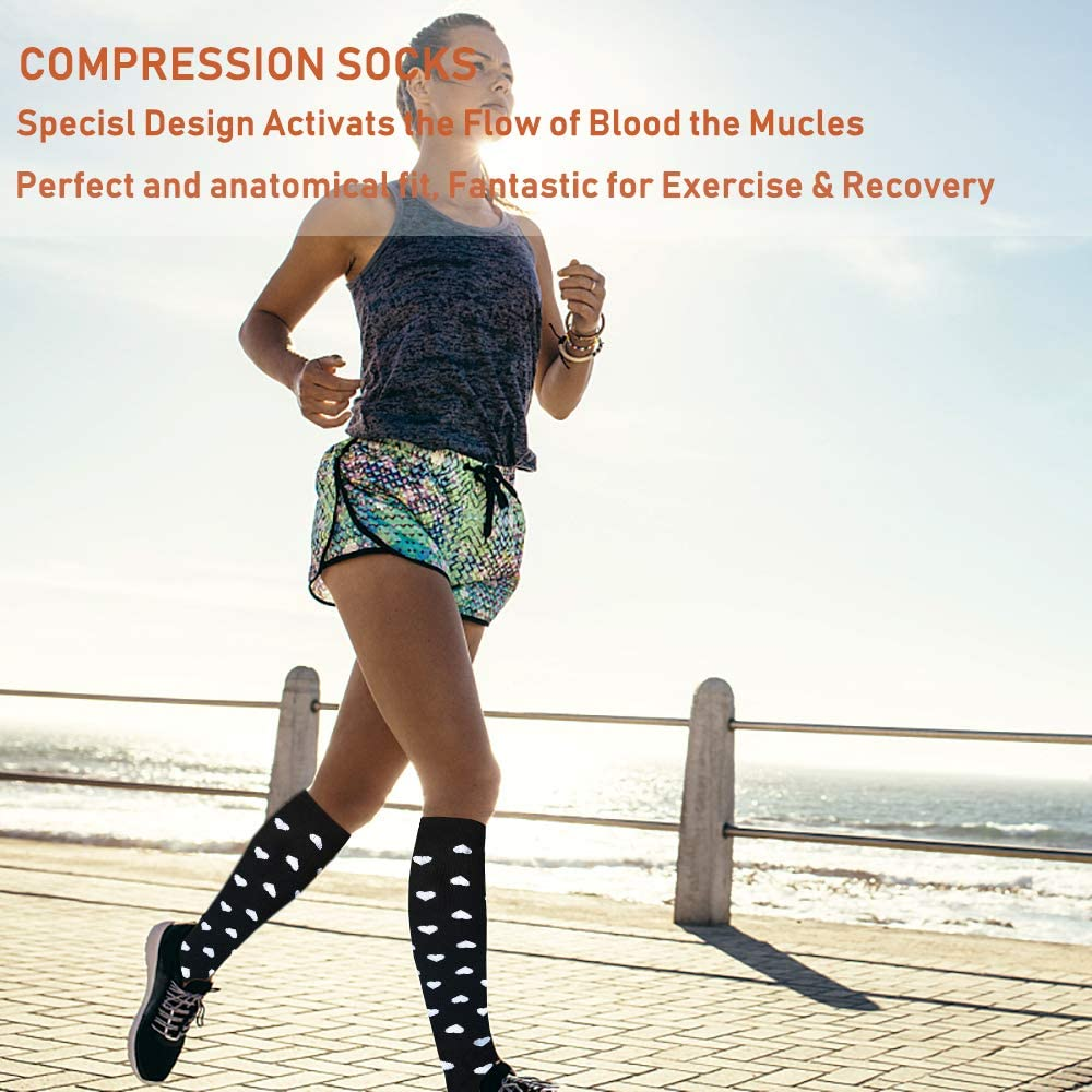7-Pairs Cool Compression Socks for Man and Woman (20-30 mmHG)| ACTINPUT