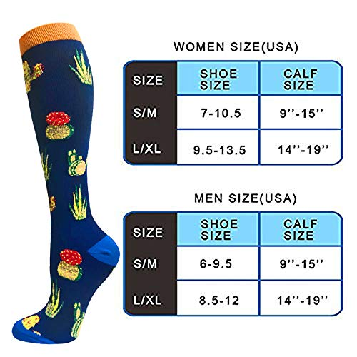 7-Pairs Animal Pattern Cute Compression Socks (20-25 mmHG)| Actinput