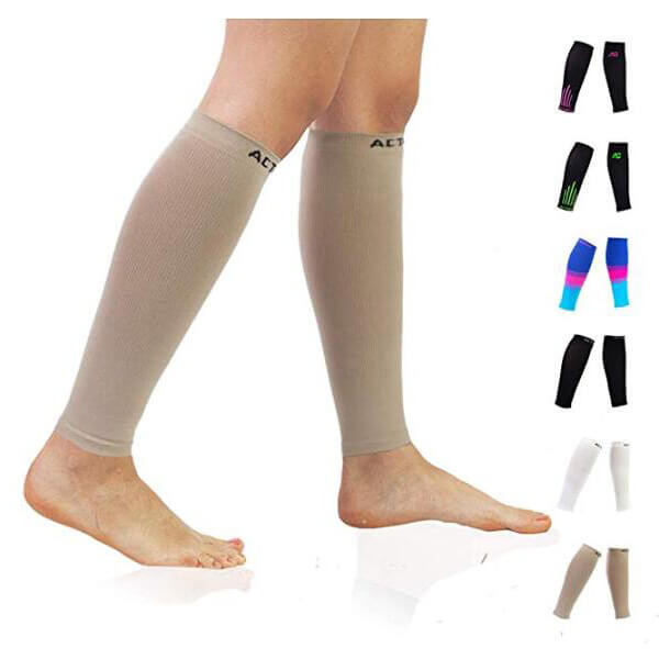 Nude Compression Calf Sleeves