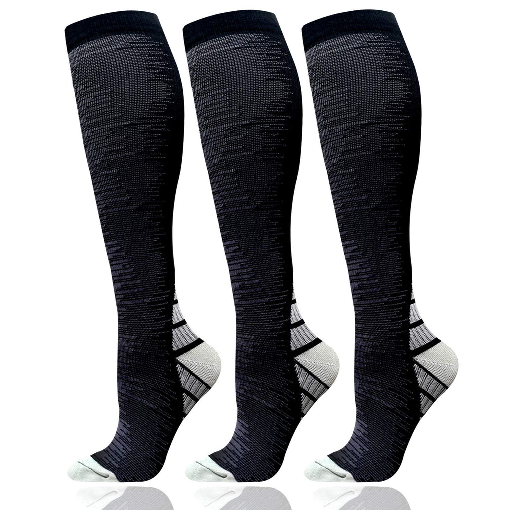 3-Pairs Compression Socks For Men & Women (15-20 mmHG)I ACTINPUT