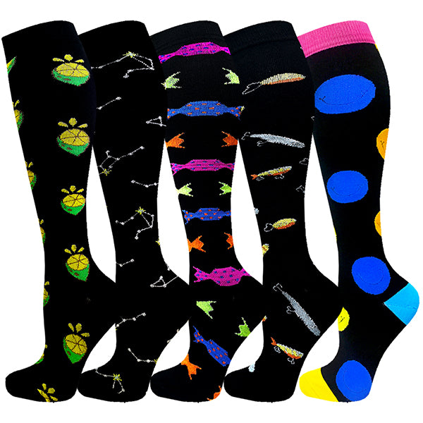 5-Pairs Cool Compression Socks For Men & Women(20-30 mmHG)I ACTINPUT