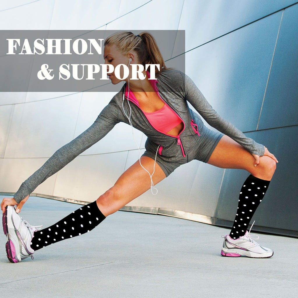 8-Pairs Cool Design Compression Socks Women & Men (20-30 mmHG) | Actinput