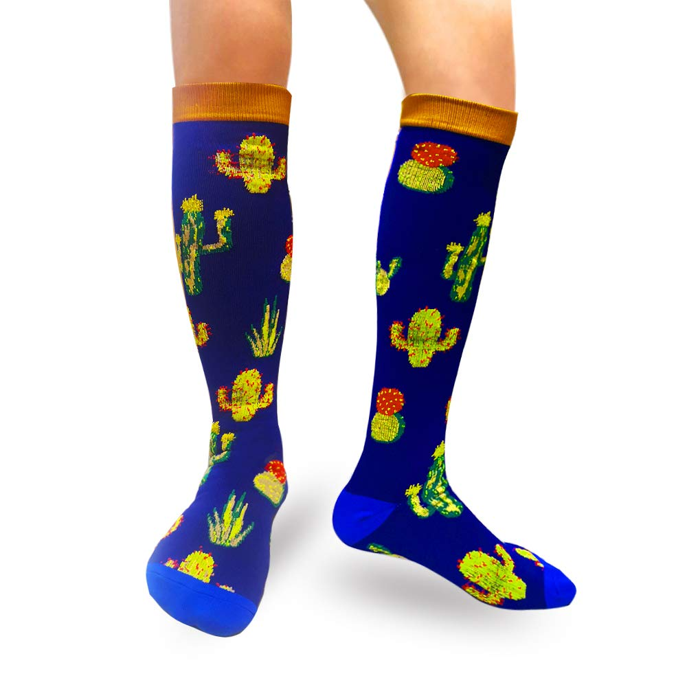 1-Pair Cactus Print Compression Socks ( 20-30MMHG) | Actinput