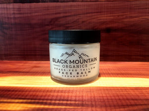 Grass-Fed Tallow Moisturizing Face Balm Cream - Cedarwood
