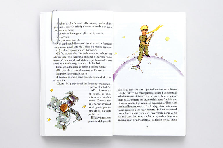 Il Piccolo Principe. The Little Prince.  Antoine de Saint-Exupéry.  Olibrix online children's bookstore.  Buy children's books in German, Spanish, French, Italian, Russian and more Buys children's books in Italian.