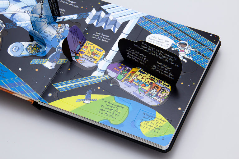 Buy children's books in German, Spanish, French, Italian, Russian and more. Children's book about space. Lift-the-flap book.