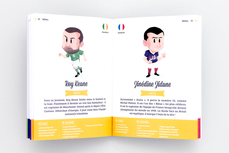 Les légendes du football. Football legends (soccer). Soccer book. Soccer for kids Olibrix online children's bookstore.  Buy children's books in German, Spanish, French, Italian, Russian and more Buys children's books in French.  Best gifts for children and kids.
