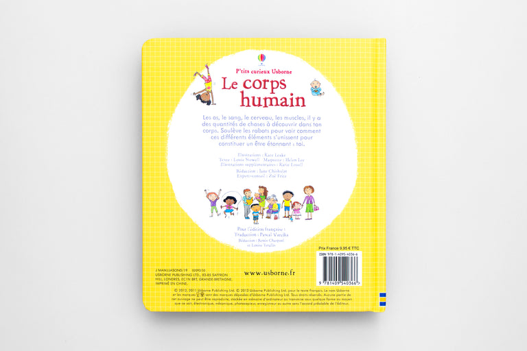 Le corps humain. The human body.  Olibrix online children's bookstore.  Buy children's books in German, Spanish, French, Italian, Russian and more Buys children's books in French.  Lift-the-flap book.