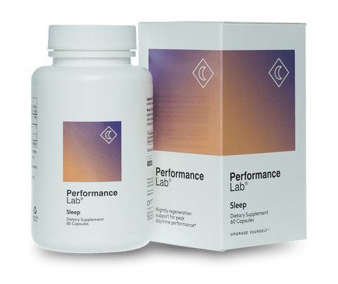 A bottle of Performance Lab Sleep