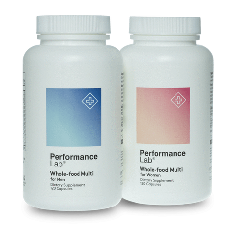2 bottles of Performance Lab Whole-Food Multi