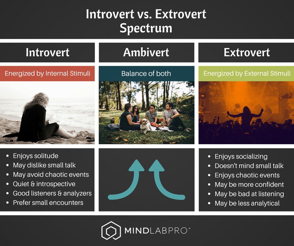introverts, extroverts, spectrum, ambiverts