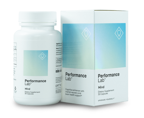 A bottle of Performance Lab Mind