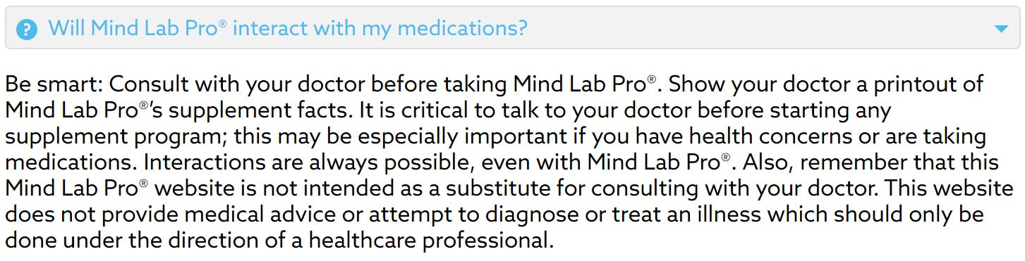 Mind Lab Pro Medications