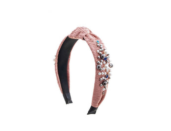 HB 11  Blush Pleated  Headband