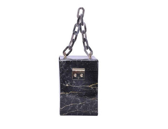 Lyanna Black Marble bag